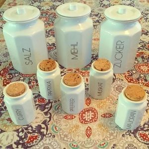 Vintage canister & spice jars made in Germany